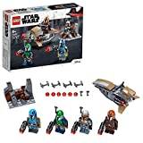 LEGO Star Wars Battle Pack Mandalorian, Set da Battaglia con 4 Minifigure, Speeder Bike e...