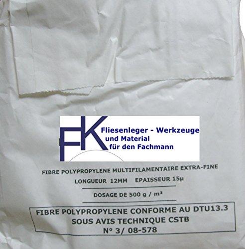 Estrich Zusatzmittel Polypropylen Fasern zur Vermeidung von Schwundrissen PP-Faser (0.5)