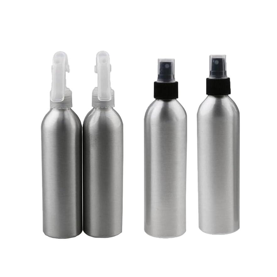 メモ研究不可能なBaosity 4個 2x100ml 2x50ml アルミ 空 ミストスプレー ボトル メイクアップ 香水 スプレーアトマイザー 便利