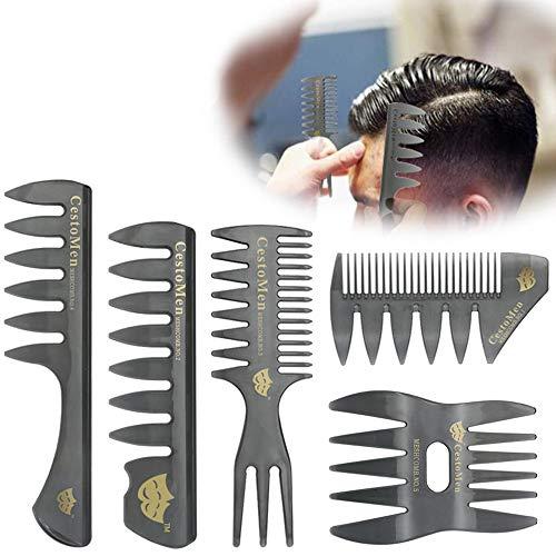 LCLrute Werkzeuge Friseurkämme 10 Stücke Schwarz Pro Salon Hair Styling Friseur Kunststoff Barbers Pinselkämme Set