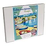 Arenart | 1 Lámina de Paisaje Cadaqués 38x46cm | para Pintar con Arenas de Colores | Manualidades para Adultos y Jóvenes | Dibujo Fácil | Pintar por números | +9 años