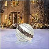 SHANGYOU Bolas de decoración navideña, Bola Inflable de decoración al Aire Libre de PVC de Navidad Gigante de 24 Pulgadas con Bomba,para decoración de jardín Adornos Bolas inflables (B)