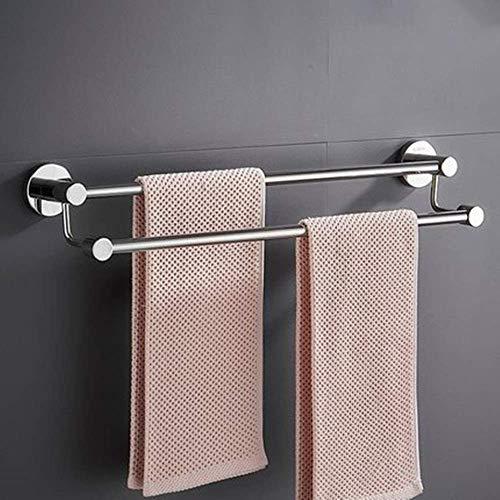 ZXYY Multifuctional Bamboo Coat Rack Moderne muur gemonteerde Punch Gratis RVS Handdoek Rack Voor Badkamer Bed Kamer Balkon Handdoek Rail Wandrek Handdoek Hanger Voor Keuken Handdoek Houder