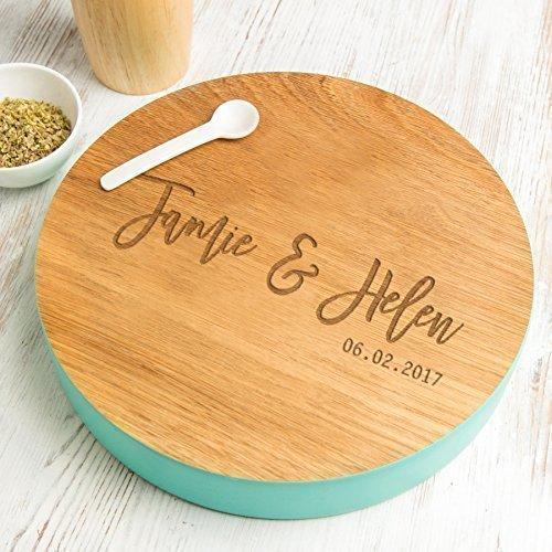 Personalized Wedding Gift Newlyweds gift Wedding Anniversary Gift Wedding Cake Platter Custom Cake Stand Engraved Round Cutting Board