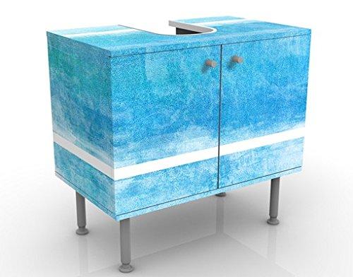 Meuble sous Vasque Design Colour Harmony Blue 60x55x35cm, Petit, 60 cm de Large, réglable, Table de lavabo, Armoire de lavabo, lavabo, Meuble Bas, Baignoire, Salle de Bains, Armoire de Salle Bains