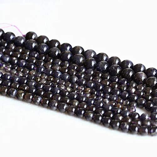 LKbeads 05006 Code-HIGH-23056 Stern-Iolith, Luchsstein, Dichroit mit Blitzlicht, rund, lose Edelsteine, 8 mm, 40,6 cm lang