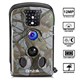 Trail Game Camera 1080P 12MP Hunting Wildlife Deer Cam Motion Activated Night Vision Full HD 2.4'...