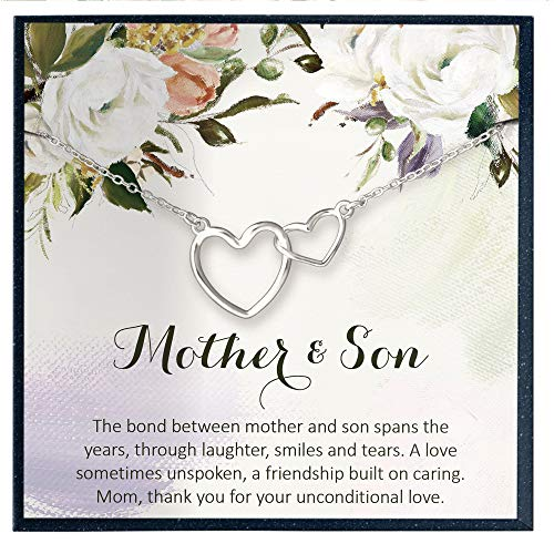 Mother Son Necklace for Mom Birthday Gifts for Mother Quotes Mom Jewelry Mom Gifts for Mom Necklace Gifts for Mother Gifts for Mother of the Groom