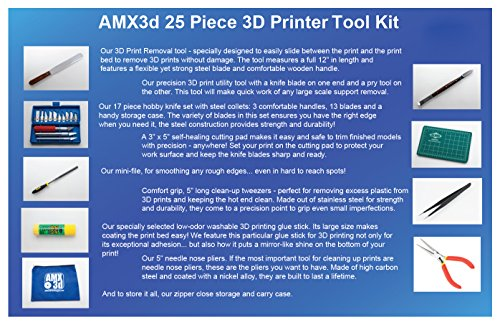Product Image 5: AMX3d 25 Piece 3D Printer Tool Kit – All The 3D Printing Tools Needed to Clean & Finish 3D Prints – Print Like a Pro