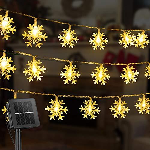Snowflake Solar Christmas Decorations Lights