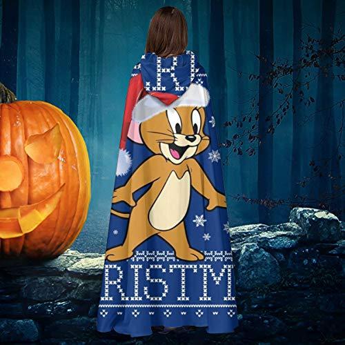 AISFGBJ Jerry Christmas Knit Tom and Jerry - Disfraz de caballero de bruja con capucha para disfraz de vampiros