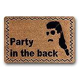 WYFKYMXX Mullet Americana Beer Lover Gift Bachelor Party Rude Door Mat Redneck Party in The Back, Mullet Doormat New Home Gift Boyfriend Doormat 23.6' x 15.7'