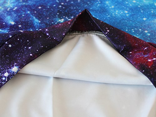 Sankill Unisex Realistic 3d Digital pullover sweatshirt Hoodie Hooded Sweatshirt S-3XL light galaxy-l/xl