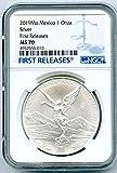2019 O Mexico MO Libertad 1 OZ ONZA .999 Fine Silver Coin FIRST RELEASES Silver MS70 NGC