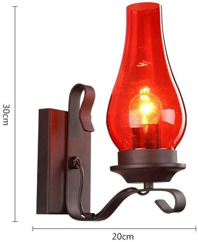 E27 Creative Bed Head retro Wandleuchte Cognac trinken vor dem Spiegel in das Licht der Scheinwerfer (Farbe  rot) eingerückt