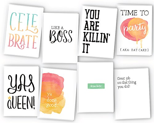 All Occasion Sassy Greeting Cards Assortment - 48 Pack Cards with Envelopes - Birthday, Graduation, Encouragement, Congratulations Cards for Men, Women, and Kids