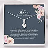 To My Best Friend - Happiness and Wonderfull Memories - Best Friend Gift to Bride- Bride Gift From Maid of Honor - Best Friend Gift on Her Wedding Day - Best Friend to Bride Necklace - Allur (Standard Box)