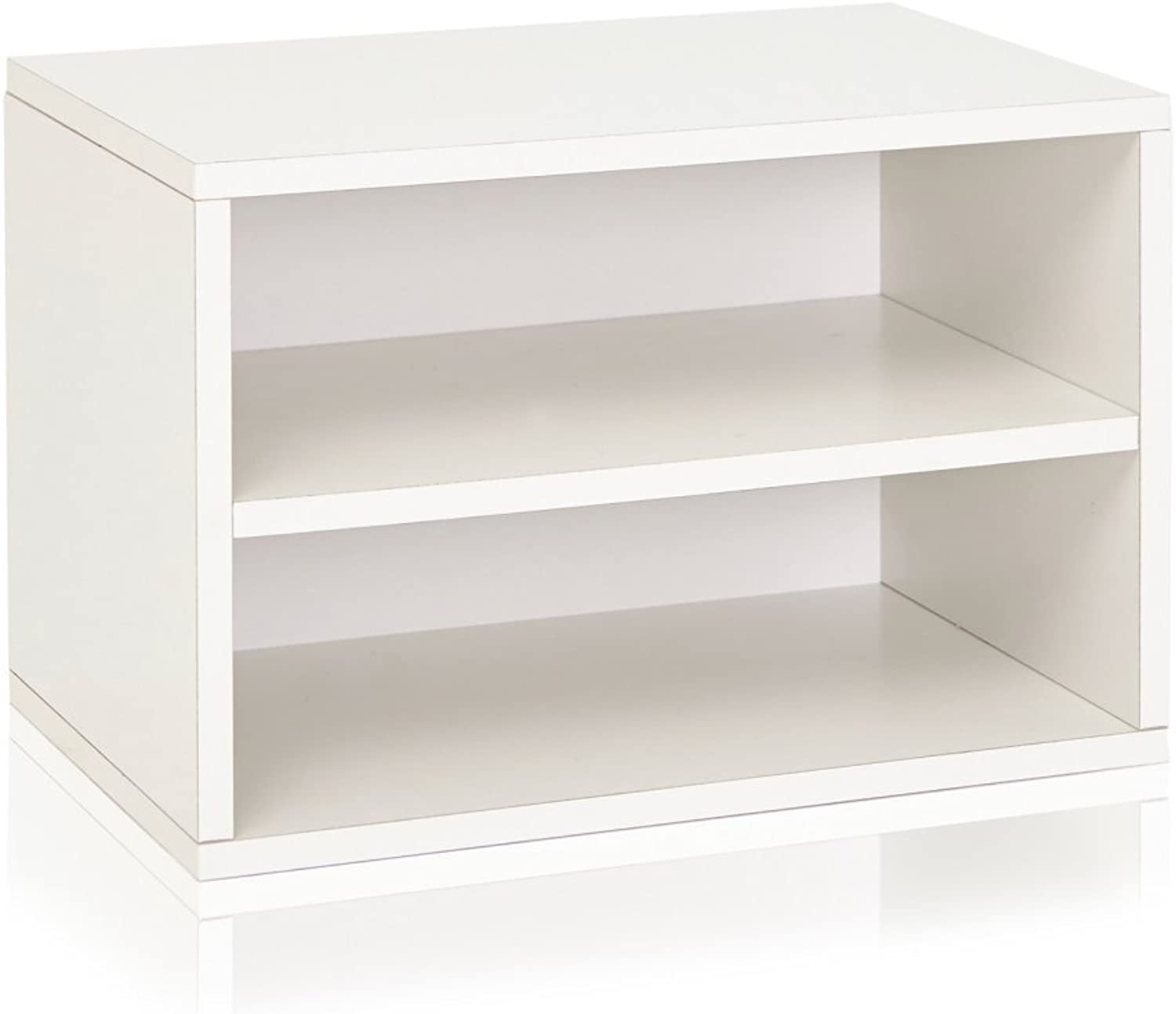 Way Basics Divider Blox Eco Friendly Storage Stackable Bookcase Shelving, White (Tool-Free Assembly and Uniquely Crafted from Sustainable Non Toxic zBoard paperboard)