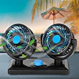 Zmoon 12V Car Cooling Fan,360 Degrees Car Fan with Weak Wind & Strong Wind for SUV, RV, Cars