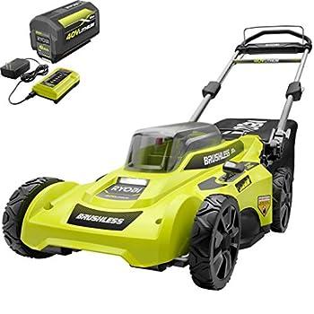 RYOBI Lawn Mower 20 in 40-Volt Lithium-Ion Brushless Cordless Walk Behind