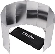 Ohuhu Camp Stove Windshield - 10 Plates Folding Camping Picnic Cooker Stove Wind Screen