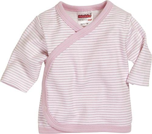 Schnizler - Wrap-Around Shirt Long Sleeve Striped - Chemise mixte bébé, Rose (White/Lightpink), Premature (Taille fabricant:44)