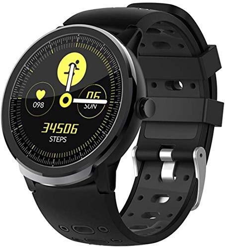 Reloj deportivo inteligente con monitoreo del sueño saludable paso calorías Bluetooth impermeable mensaje Push multifunción Fitness Tracker-Android e IOS Verde-Negro