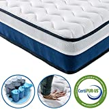 Vesgantti Lavender 10 Inch Hybrid Mattress - Medium Firm Feel - Pocket Spring and Comfort Foam - CertiPUR-US Certified/100 Night Trial