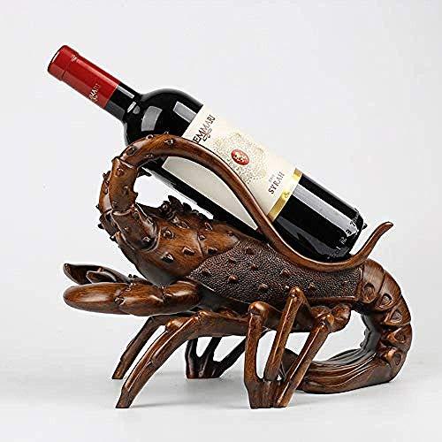 KANJJ-YU Europea langosta vino estante resina decoración productos para el hogar sala de estar mesa vino gabinete exhibición interior escritorio soporte decoraciones arte arte vino