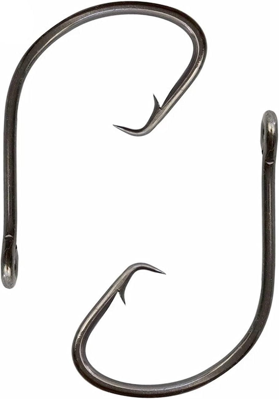 Fishing 2021new Credence shipping free Hooks Set 200 pcs Offset Bait Sport Circle Black