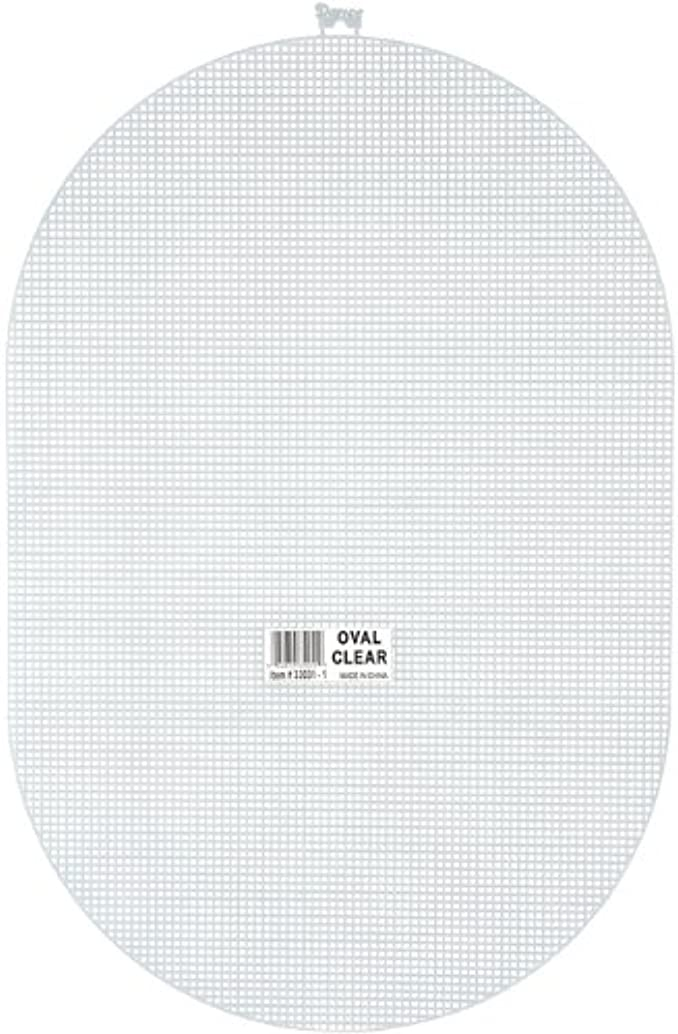 Darice 7 Mesh Plastic Canvas - Clear Oval - 12 x 18