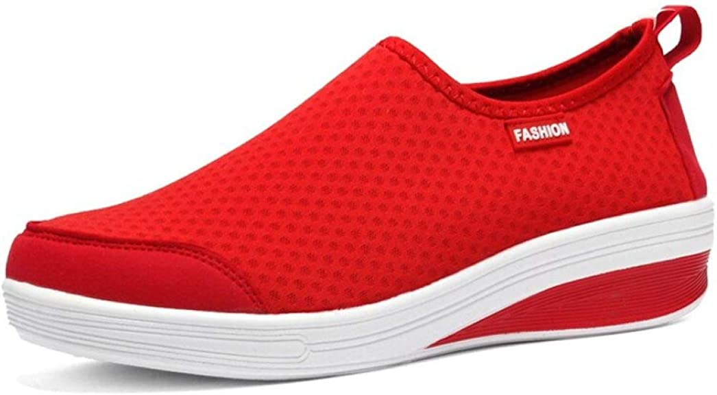 JOYBI Women Casual Walking Shoes Comfort Breathable Non Slip Lightweight Unisex Mesh Flat Sneakers Trainers