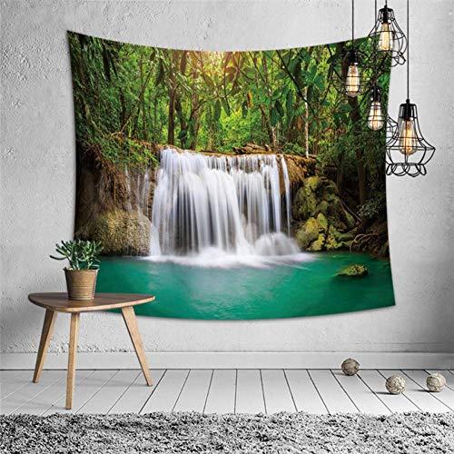 GUDOJK Tapijt, sterrenhemel bos, polyester, strand, tuniek, tapijt, dunne mat, landschap, gedrukt wandbehang, behang, hoofddecoratie, accessoires, 130 cm x 150 cm