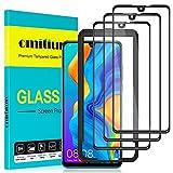 "omitium Protector Pantalla para Huawei P30, [3 Pack] Huawei P30 Cristal Templado [Cobertura máxima][ [Marco Instalación Fácil] Sin Burbujas Dureza 9H Anti-Arañazos Vidrio Templado Huawei P30, 6,1"""