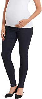 Vintage America Blues Women's Maternity Jeans (Pinewood/Navy Belly Band, Small)