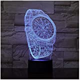 Night Light 3D Abstract Wrist Watch Shape 7&16M Color Change Touch Switch Baby Sleep Usb 3D Night Light Lamp For Home Decor
