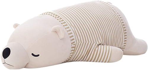 GJF Plüschtier Puppe Weiß Größe Kissen Geburtstagsgeschenk mädchen Freundinnen niedlichen Puppen Valentinstag Geschenk GJF (Farbe   Weiß