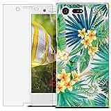 MadBee Funda para Sony Xperia X Compact [con Protector Pantalla],Transparente Carcasa Silicona Ultra Fina Suave TPU Gel Bumper Case Protección con Dibujos Shell Cover (Hoja 1)