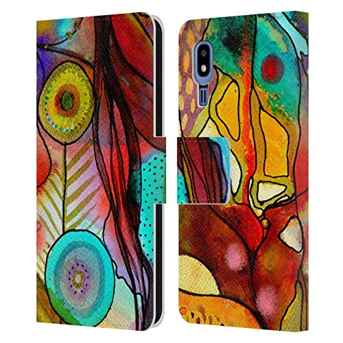 Official Sylvie Demers Terre D'Accueil Flowers Leather Book Wallet Case Cover Compatible For Samsung Galaxy A2 Core (2019)