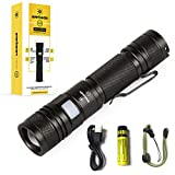 Everbeam E2 LED Tactical Torch 950 Lumen Bright Flashlight, USB Rechargeable, Zoomable, Adjustable