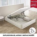 PIKOLIN, canapé abatible Gran Capacidad de almacenaje Color Gris Glaciar 150x190, Servicio de Entrega Premium Incluido