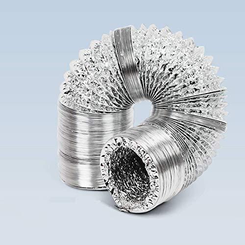 Blauberg UK - Conducto flexible de aluminio para ventilador extractor, baño, cocina, inodoro, ventilación doméstica, filtro de tienda de cultivo hidropónico (125 mm de diámetro, 5 m de largo)