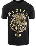 ShirtBANC Original Mexican American Inspired Mens Shirts (Mexico Eagle Gold 1810, 2XL)