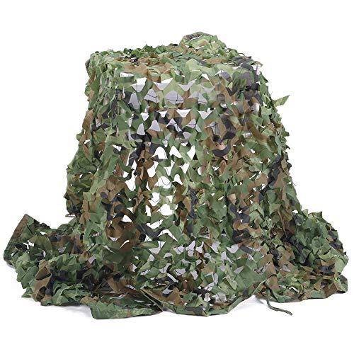 Filet de D'ombre,Camouflage Net Maille de Soleil Camo Auvents Tente Tissu Oxford,Convient pour Plage Pêche Couverture de Voiture Plante Couverture Protection Camping Cacher Chasse Tournage,Woodland