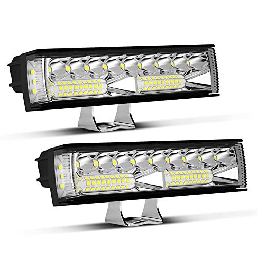 LIGHTFOX Led Light Bar - 2PCS 6 Inch Led Light Pods Waterproof Work Light Off Road Driving Light Flood Spot Beam Combo Fog Light for Truck Pickup ATV SUV UTV Boat