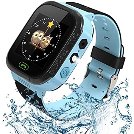 Kids Smart Watch, Enow Waterproof LBS Tracker Children Smartwatch for 3-12 Years Old, with SOS Call Camera Flashlight Alarm Activity 1.44'' Touch Screen, Christmas Birthday Gifts for Kids