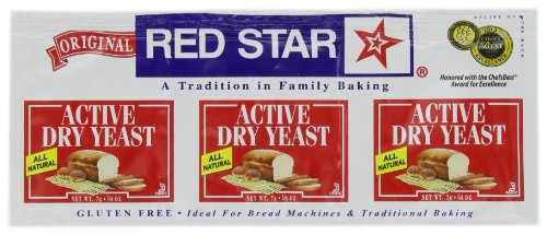 Red Star Dry Yeast 3 pack, Gluten Free, 0.75-Ounce (Pack of 9)