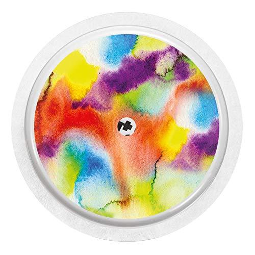 2x Farbensturm - Sticker Aufkleber für FreeStyle Libre Sensor