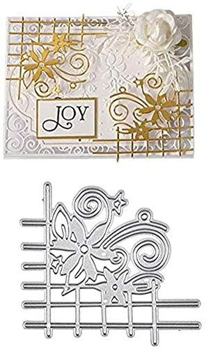 CHRISTY HARRELL Stanzschablonen, Zaun Blumen Muster DIY Papier Kunst Karten Handwerk Karbonstahl geprägte Messer Stanzform für Scrapbooking, Party, Einladung, Grußkarte, Dekoration