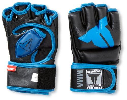 Throwdown Uni MMA Handschuhe Amateur Hybrid, schwarz blau, L, 12-0249